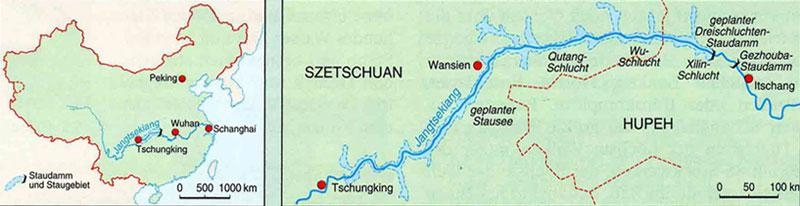 Konflikte um Wasser - China / Drei-Schluchten-Projekt