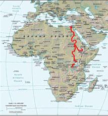 Der nil, dieser mit 6671km längste fluss der welt, hat seine quellen