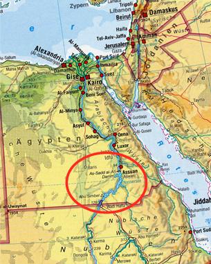 Karte ägypten Nil.Konflikte Um Wasser Nil Der Assuan Staudamm Und Seine Auswirkungen